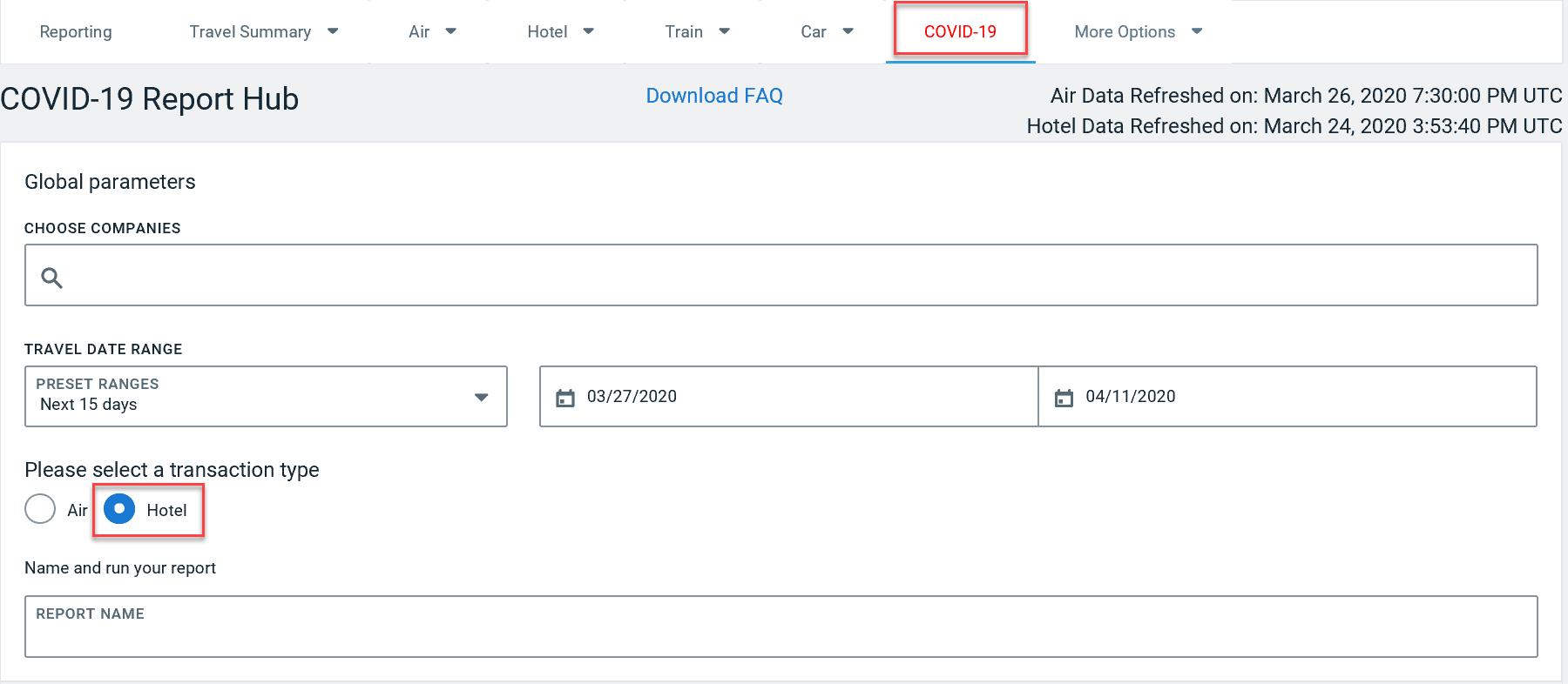 Cancel Hotel Egencia Online Booking Tool